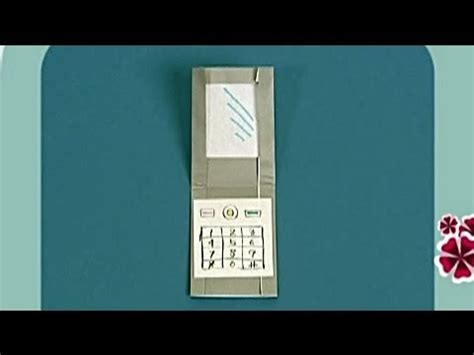 how to make a origami phone how to make a paper phone tutorial paper friends 03