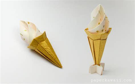 cone origami origami cone modular paper kawaii