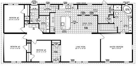 modular floor plan large manufactured homes large home floor plans