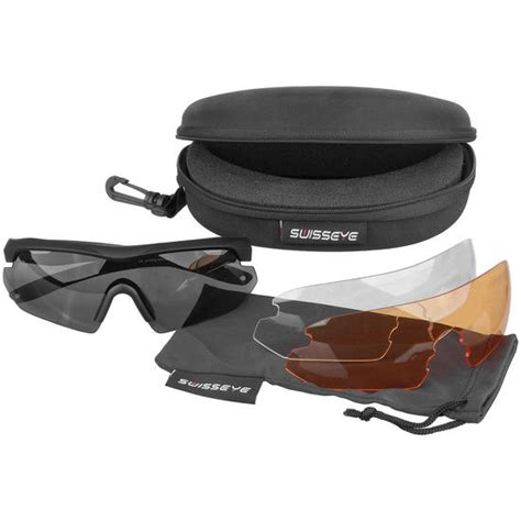 eye rubber st swiss eye nighthawk sunglasses smoke orange clear
