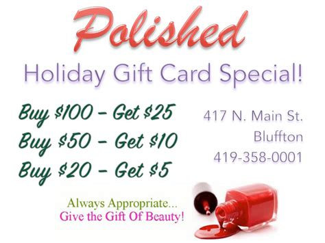 gift card specials 2014 check out the polished gift card special the