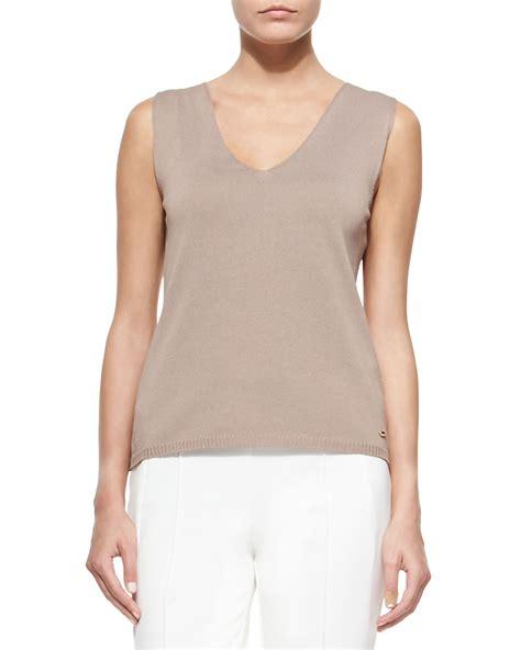 sleeveless knit top escada sleeveless knit shell top in lyst