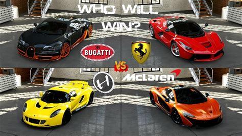 Forza 5   Bugatti vs Hennessey vs La Ferrari vs McLaren P1