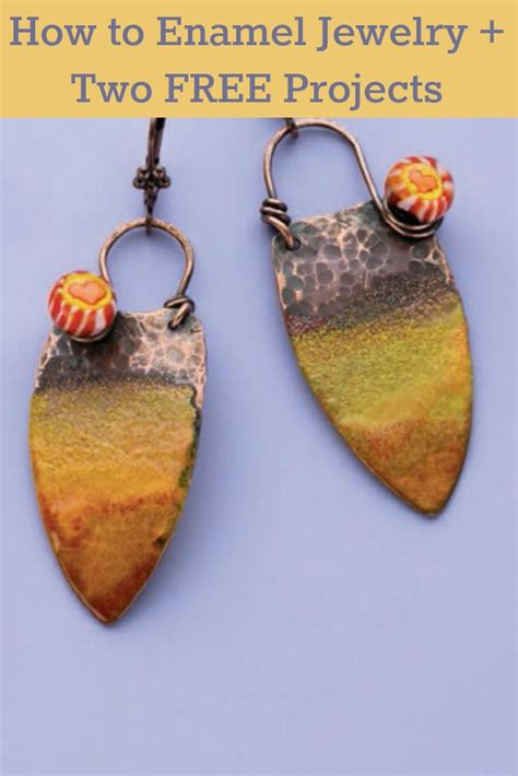 jewelry daily free projects 144 best enamel jewelry torch and kiln fired