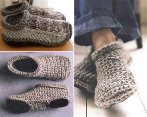 free slipper patterns to knit or crochet you ll these knitted slipper free patterns the whoot