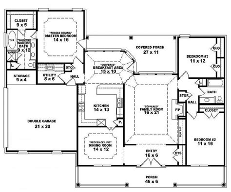 open one story house plans one story open floor plans house plan details floor plans