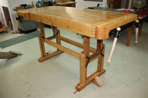 woodworking bench height wood work adjustable height woodworking bench pdf plans