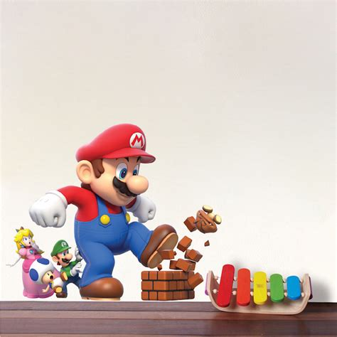 mario wall sticker mario wall stickers home design