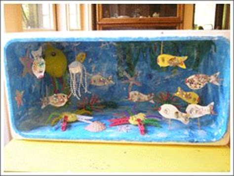 underwater crafts for dioramas marinos shoes shoe box and