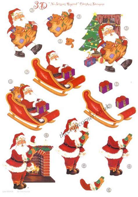 3d decoupage pictures santa sleigh die cut 3d decoupage sheet