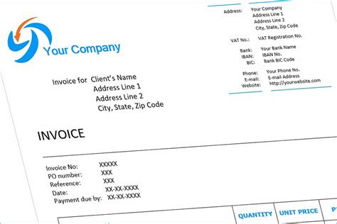 invoice example english download free template for word