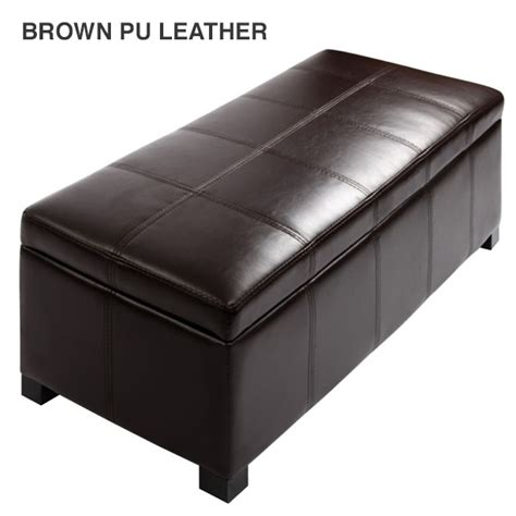 fabric ottoman storage fabric pu leather bench storage ottomans 9 colours buy