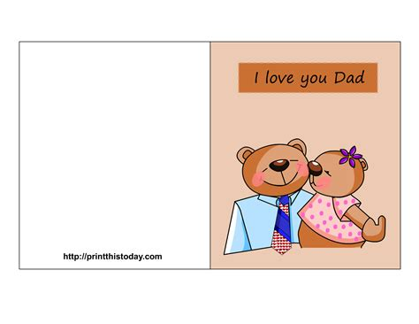 printable fathers day cards for to make free s day cards printable