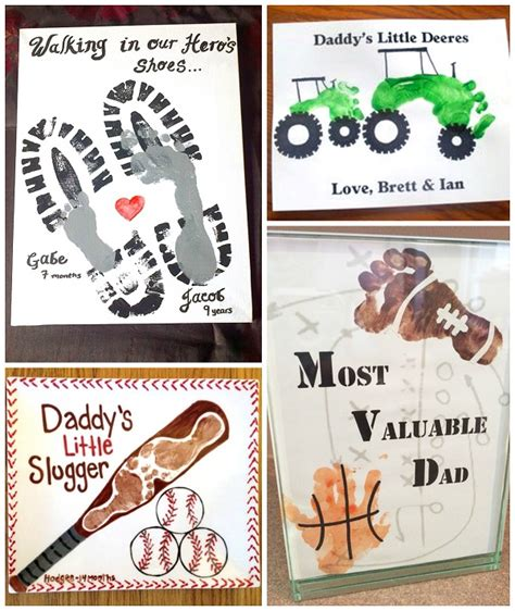 fathers day craft ideas for to make s day footprint gift ideas from the crafty