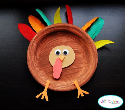 paper plate turkey craft paper plate turkeys family crafts