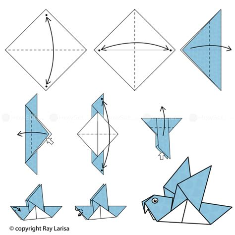 origami pigeon pigeon animated origami how to make origami