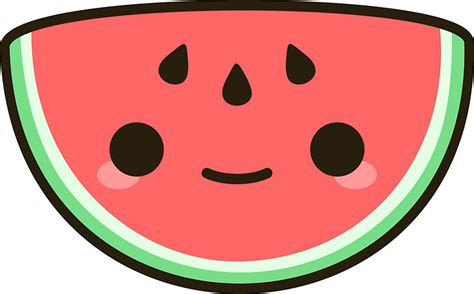 Posters Home Decor by Quot Kawaii Watermelon Quot Stickers By Peppermintpopuk Redbubble