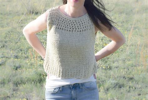 summer knitting summer vacation knit top pattern in a stitch