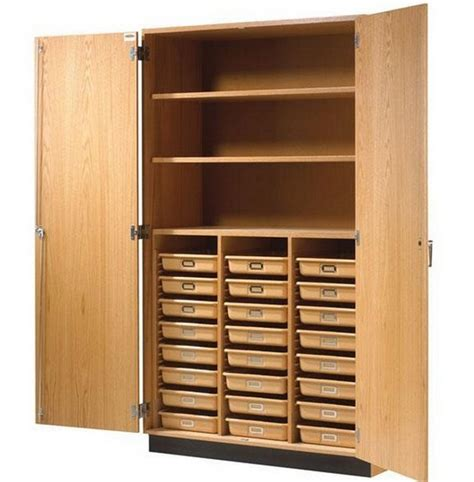 wood storage cabinets with doors and shelves home