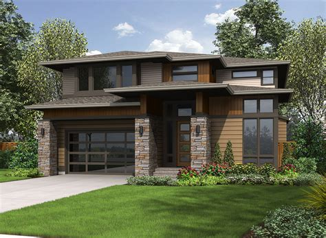 prairie style home plans architectural designs