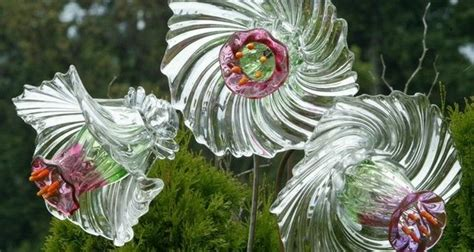 diy glass garden flowers 20 upcycled garden glass flowers made of plates