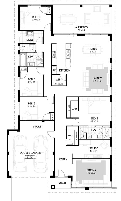 4 bedroom flat floor plan home builders perth new home designs celebration homes