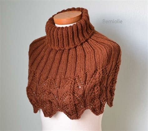 knit capelet irene knitting capelet pattern pdf by bernioliesdesigns on