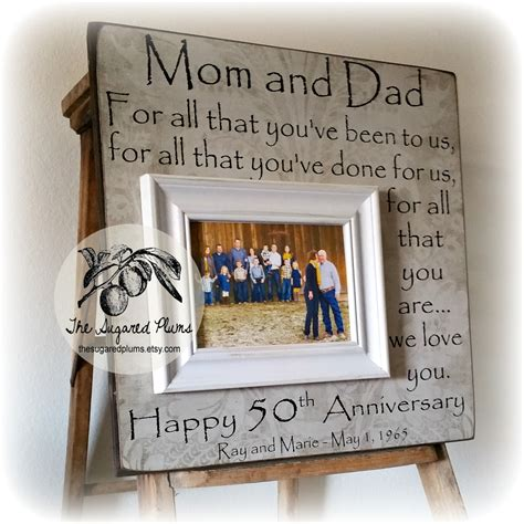 gift idea for parents 50th anniversary gifts parents anniversary gift for all that