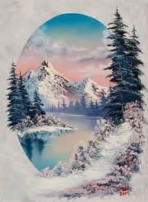 bob ross painting trees best 25 winter ideas on