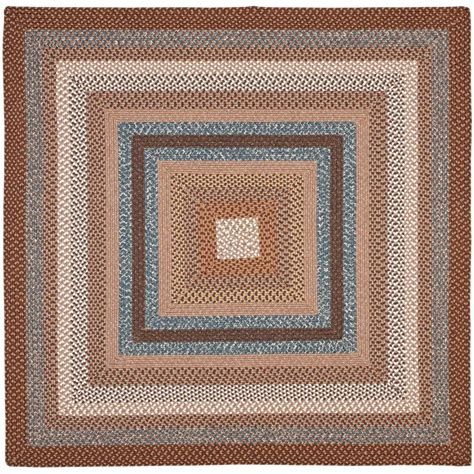 6 square area rug safavieh braided brown multi 6 ft x 6 ft square area rug
