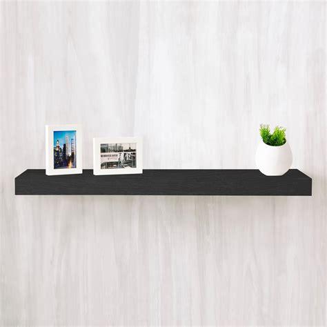 floating black shelves southern enterprises 10 in chicago black floating shelf