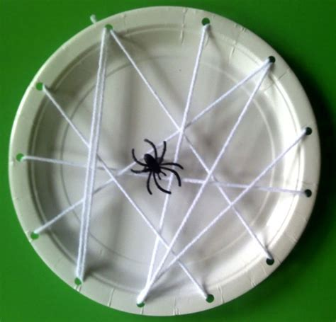 spider craft for habitat lesson spider web paper plate bug pre k lessons ideas