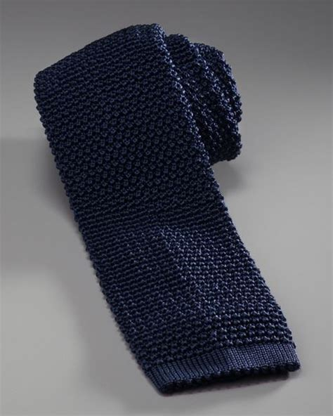 mens knit tie charvet knit silk tie in blue for null lyst