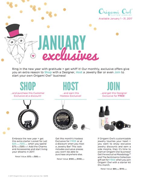 origami owl monthly specials origami owl monthly specials 28 images hooting honey s