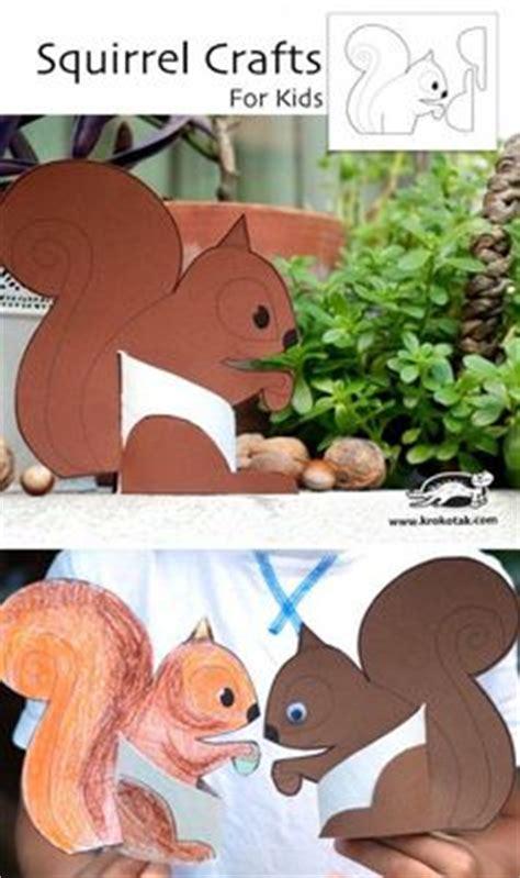 squirrel crafts for krokotak nyomtatni printables gyerekeknek ovi