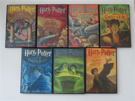 pictures of harry potter books complete set of harry potter book cover by allybooscreations