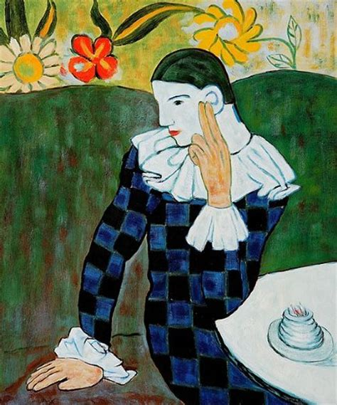 authentic picasso paintings for sale pablo picasso harlequin leaning on his for sale