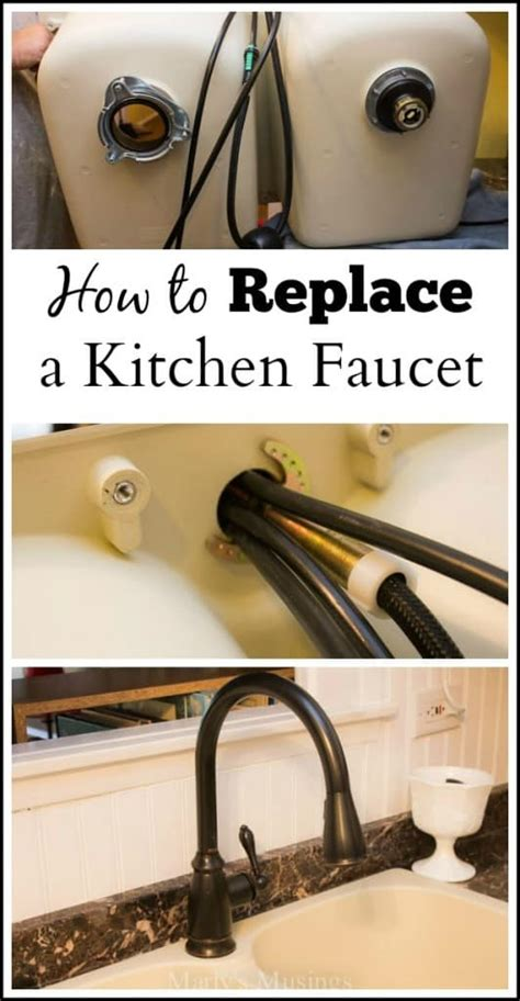 how to install a kitchen faucet how to replace a kitchen faucet