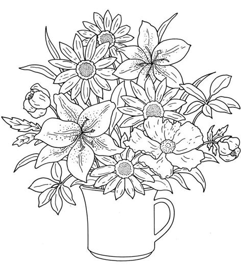 coloring book pictures of flowers 25 best ideas about flower coloring pages on