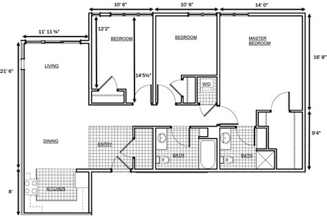 floor plans with measurements 3 bedroom house floor plan dimensions search home in 2018 house floor