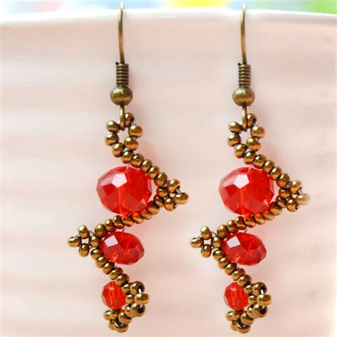 how to make beaded jewelry earrings how to make simple twist bead earrings pandahall
