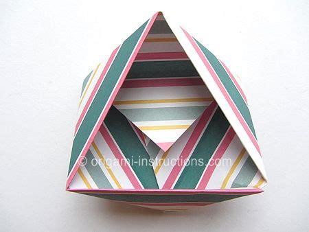 triangle box origami easy modular triangle box origami paper diy boxes