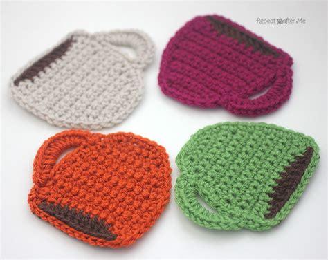 knitted coaster pattern free crochet coffee mug coaster free pattern