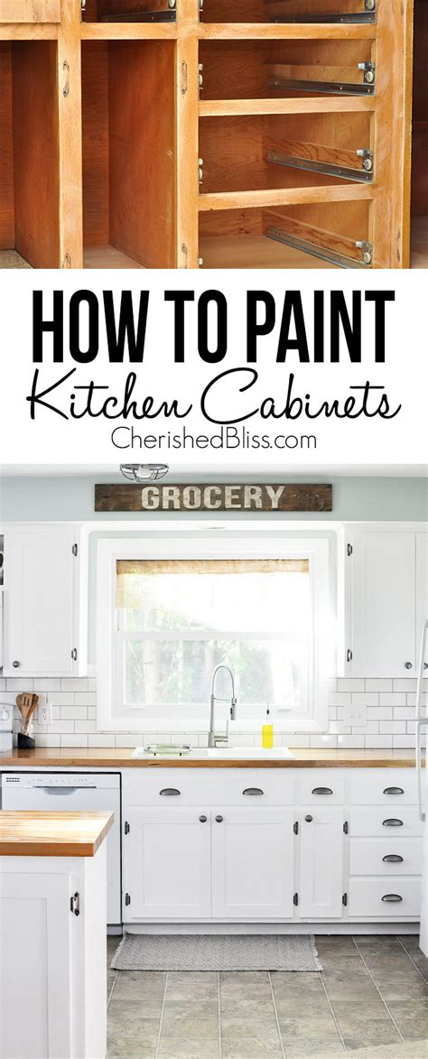 how do i paint my kitchen cabinets kitchen hack diy shaker style cabinets cherished bliss