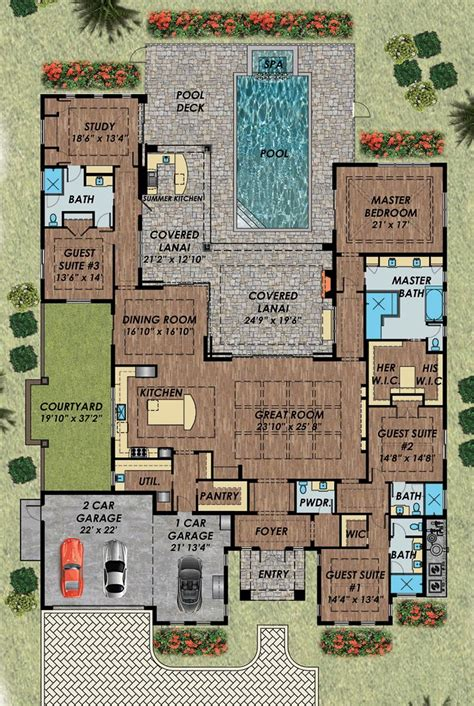 mediterranean house plans with pool 25 best ideas about house plans with pool on