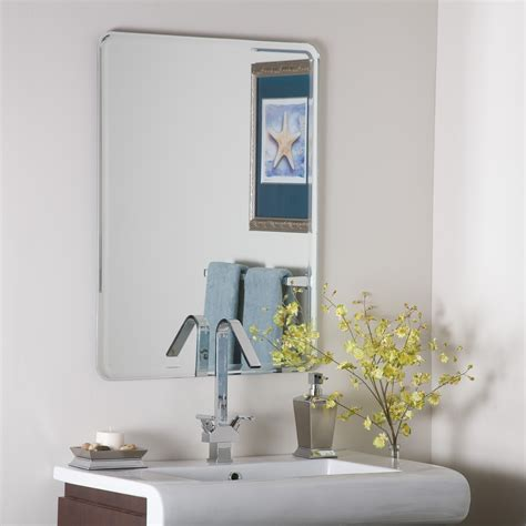 large frameless bathroom mirrors decor samson large frameless mirror beyond stores