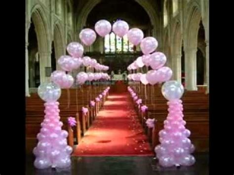 Church Decorations For Weddings by Simple Wedding Balloon Decorating Ideas Youtube