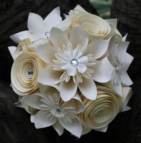 origami wedding bouquet origami and spiral bouquet any colour