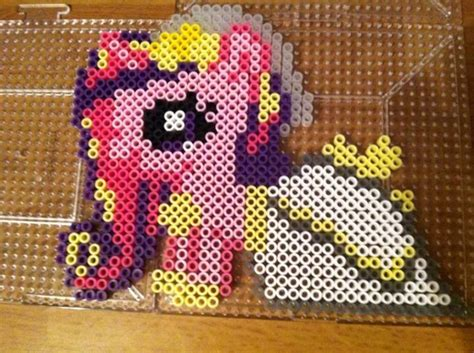my pony perler cadance my pony perler by khoriana on deviantart