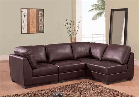 brown leather sofa sectional brown leather modern sectional sofa plushemisphere